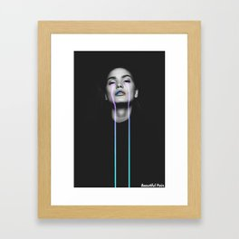 Beautiful Pain Framed Art Print