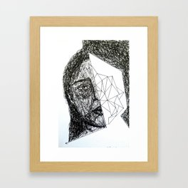 human and a bit of space and time  Framed Art Print