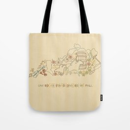 Kentucky State Lines Tote Bag