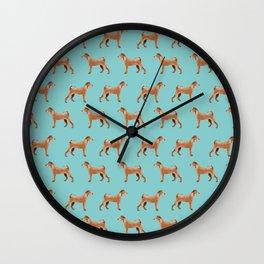 Irish Terrier dog breed pet pattern dog art pet friendly terriers portrait Wall Clock