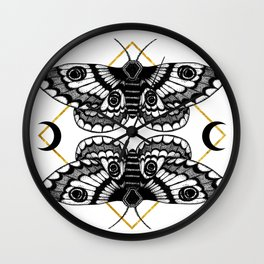 moth & moon Wall Clock