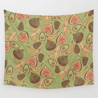 fig Wall Tapestries featuring Fig by Meredith Miotke