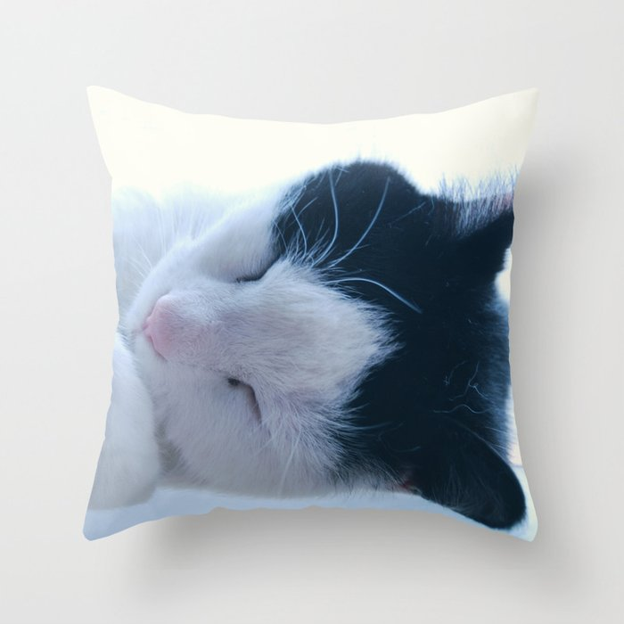 Curled Paws Throw Pillow