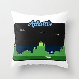 Atlantis Video Game Art Throw Pillow
