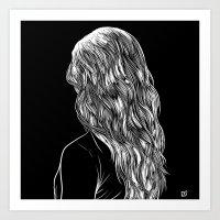 Hair in Black Art Print