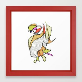 Duck, Waving Framed Art Print
