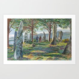 Craigh na dun (Outlander) Art Print