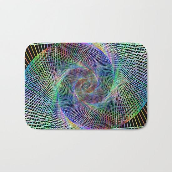 Fractal spiral Bath Mat
