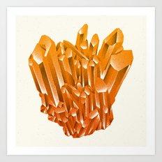 Orange Formation Art Print