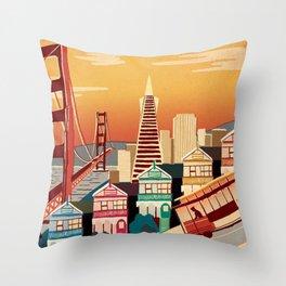 san francisco new art love illustration cute cover case skin floor pillow 2018 trend popular sticker Throw Pillow