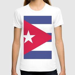Cuba flag emblem T-shirt