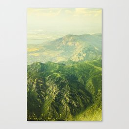 FLIGHT OVER SALT LAKE Canvas Print