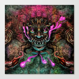 Japanese Dragon Mask Canvas Print