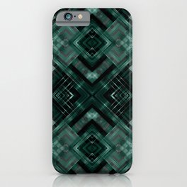 Black and green abstract pattern . iPhone Case