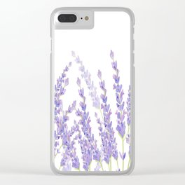 Lavender in the Field Clear iPhone Case