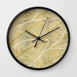 Tropical Gold Wall Clock