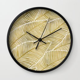Tropical Gold Wall Clock