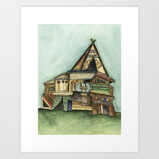 TePee Fort Art Print