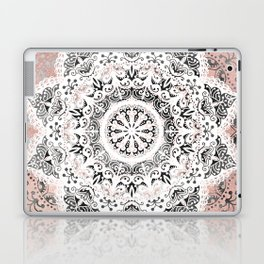 Dreamer Mandala White On Rose Gold Laptop & iPad Skin