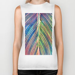 503 - Canna Leaf Abstract Biker Tank