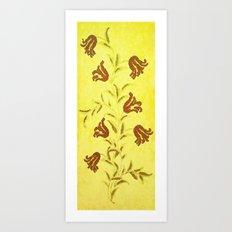 Flowers In Sketch Art Print