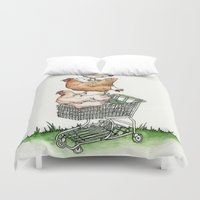 shopping Duvet Covers featuring Shopping by Miranda Currie