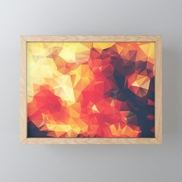 Crimson Fire Polygon Art Framed Mini Art Print