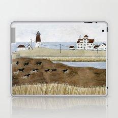 Seashore lighthouse and wild horses Laptop & iPad Skin
