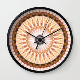 Neutrals Daisy Kaleidoscope Wall Clock