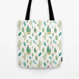 Ivory pastel blush green pink cactus floral Tote Bag