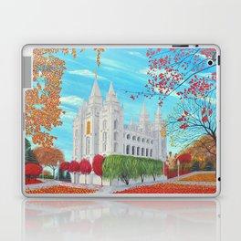 Salt Lake City, Utah LDS Temple in Autumn Laptop & iPad Skin