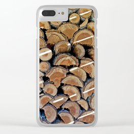 FIREWOOD WAITING IN THE WOODSHED Clear iPhone Case