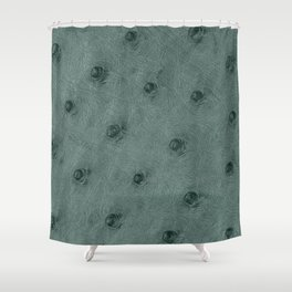 Ostrich leather effect (grey) Shower Curtain