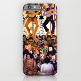 Classical Masterpiece 'Le-Jour-des-Morts' - The Dead, 1924 by Diego Rivera iPhone Case