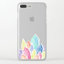 Crystals Green Clear iPhone Case