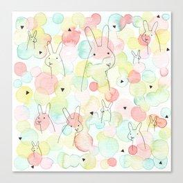 50 Shades Of Bunny Canvas Print