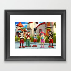 Suzzy and the Gang Framed Art Print