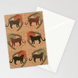 Leopard Sunset Tropical Pattern Stationery Cards