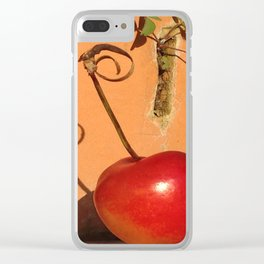 Cherry Spiral Clear iPhone Case
