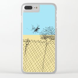 Bird Fence - C Clear iPhone Case