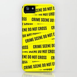 Crime Scene Tape Pattern iPhone Case