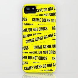 Crime Scene Tape Pattern iPhone Case