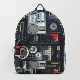 Retro Pop Eighties Boombox Radio Pattern Backpack