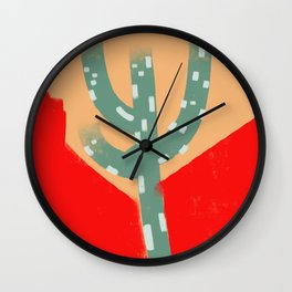 cactus colorful 10 Wall Clock