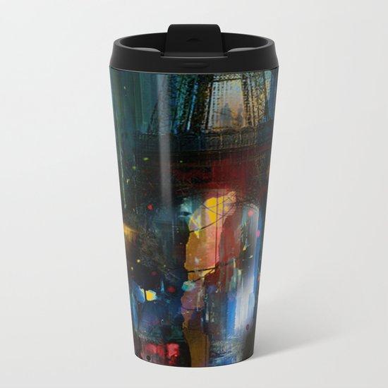 City of Lights Metal Travel Mug