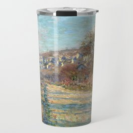 1880-Claude Monet-Road of La Roche-Guyon-60 x 73 Travel Mug