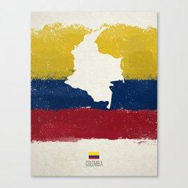Viva Colombia Canvas Print