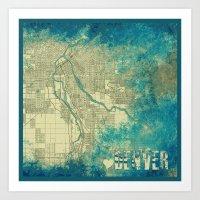 denver Art Prints featuring Denver by Artsy B