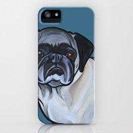 Murphy the pug iPhone Case