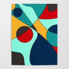 Abstract pattern Cuts Poster